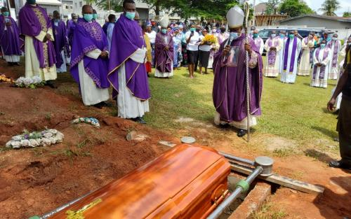 Archbishop During the Burial of Fr. Charles Okeke-Odogwu