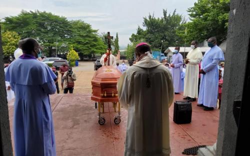 Archbishop During the Burial of Fr. Charles Okeke-Odogwu